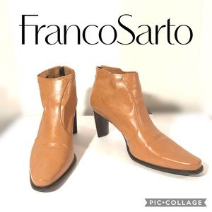 Franco Sarto Back ZIP Ankle Boot Sz 8